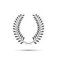 Simple laurel wreath icon twig with leaves vector image