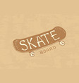 skateboarding label logo for skater badge vector image vector image