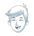 smiling young boy student avatar people vector image vector image