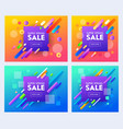 spring super sale poster set color design vector image