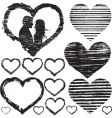 stamp love vector image vector image