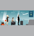 the future of luggage vector image vector image