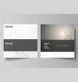 the layout of two square format covers vector image vector image