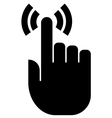 Touch finger icon vector image vector image