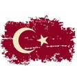 Turkish grunge flag vector image vector image