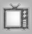 tv sign pencil sketch vector image vector image