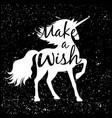 unicorn silhouette poster vector image