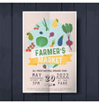 vegetables farmer market sketch poster farm fresh vector image