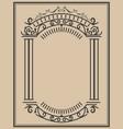 vintage frame on light background design element vector image