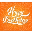 Vintage Happy Birthday Typographical Background vector image vector image