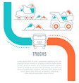 website banner and landing page trucks vector image vector image