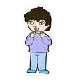 comic cartoon worried person vector image