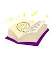 Magic book cartoon icon vector image