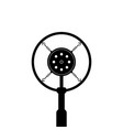 black retro microphone on white background vector image