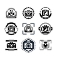 Vintage photography badges or logos vector image