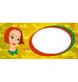 Cartoon girl with speech bubble vector image