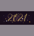 2021 banner for happy new year holidays vector image
