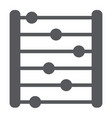 abacus glyph icon accounting and mathematics vector image vector image