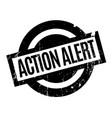 action alert rubber stamp vector image vector image