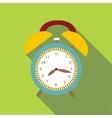 Alarm clock icon flat style vector image vector image