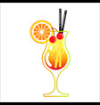 alcoholic cocktail in a glass vector image