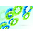 Background with transparent rings vector image vector image