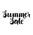 Black Summer Sale Lettering over White vector image vector image