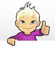 boy showing thumb vector image vector image