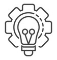 bulb cog wheel icon outline style vector image