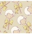 Cake pops with bow seamless pattern vector image vector image