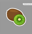 cartoon fresh kiwi isolated sticker vector image vector image