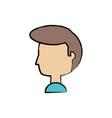 cartoon man head icon vector image vector image