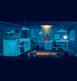 child bedroom for boy at night time dark room vector image vector image