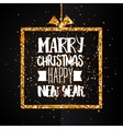 Christmas and Happy new year golden banner vector image vector image