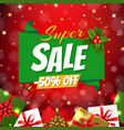 christmas sale banner with origami vector image vector image