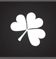 clover leaf on black background vector image