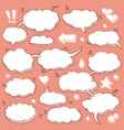 collection hand drawn speech bubbles vector image