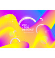colorful 3d flow shapes liquid wave modern vector image vector image