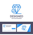 creative business card and logo template diamond vector image
