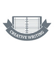 creative writing logo vintage style vector image