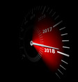 date new year 2018 vector image vector image