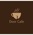 door cafe design template vector image vector image