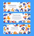favorite toys - set flat design style banners vector image