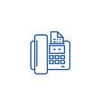 fax line icon concept fax flat symbol vector image