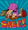 female somersault athletic flexibility sale of vector image vector image