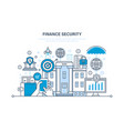 finance secure payment security protection vector image vector image
