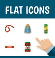 flat icon eating set of bratwurst kielbasa vector image