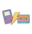game boy cassette and lighting vector image vector image