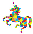 Geometric Horse vector image vector image