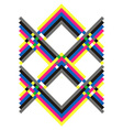 geometric pattern multicolored vector image vector image